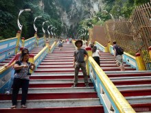 Kuala Lumpur - Batu Cave stairs