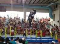 Lion dance - standing trick 2