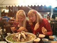 Luang Prabang - hot pot with Helena and Sofie