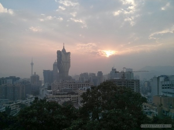 Macau - Guia fortress sunset 2