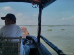Mekong boat tour - clear day driving