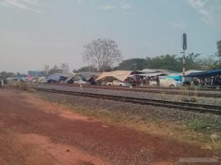 Nong Khai - Sunday walking market train tracks