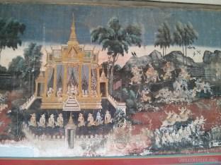 Phnom Penh - royal palace mural 1