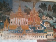 Phnom Penh - royal palace mural 3