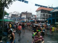 Songkran in Bangkok - Khao San nearby 1