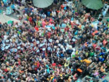 Songkran in Bangkok - Silom from above 13