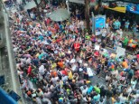 Songkran in Bangkok - Silom from above 15