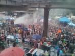 Songkran in Bangkok - Silom from above 2