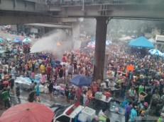 Songkran in Bangkok - Silom from above 2
