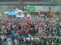 Songkran in Bangkok - Silom from above 3