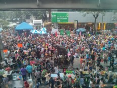 Songkran in Bangkok - Silom from above 3