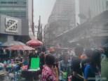 Songkran in Bangkok - Silom water cannon 2