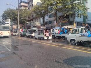 Thingyan in Yangon - main street 1