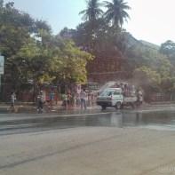 Thingyan in Yangon - street view 3