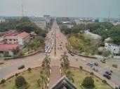 Vientiane - Patuxai view south
