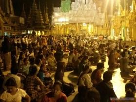 Yangon - Shwedagon pagoda at night 11