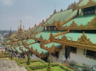 Yangon - Shwedagon pagoda descending east