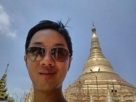 Yangon - Shwedagon pagoda portrait 2