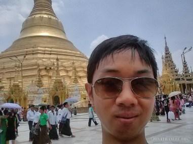 Yangon - Shwedagon pagoda portrait 3