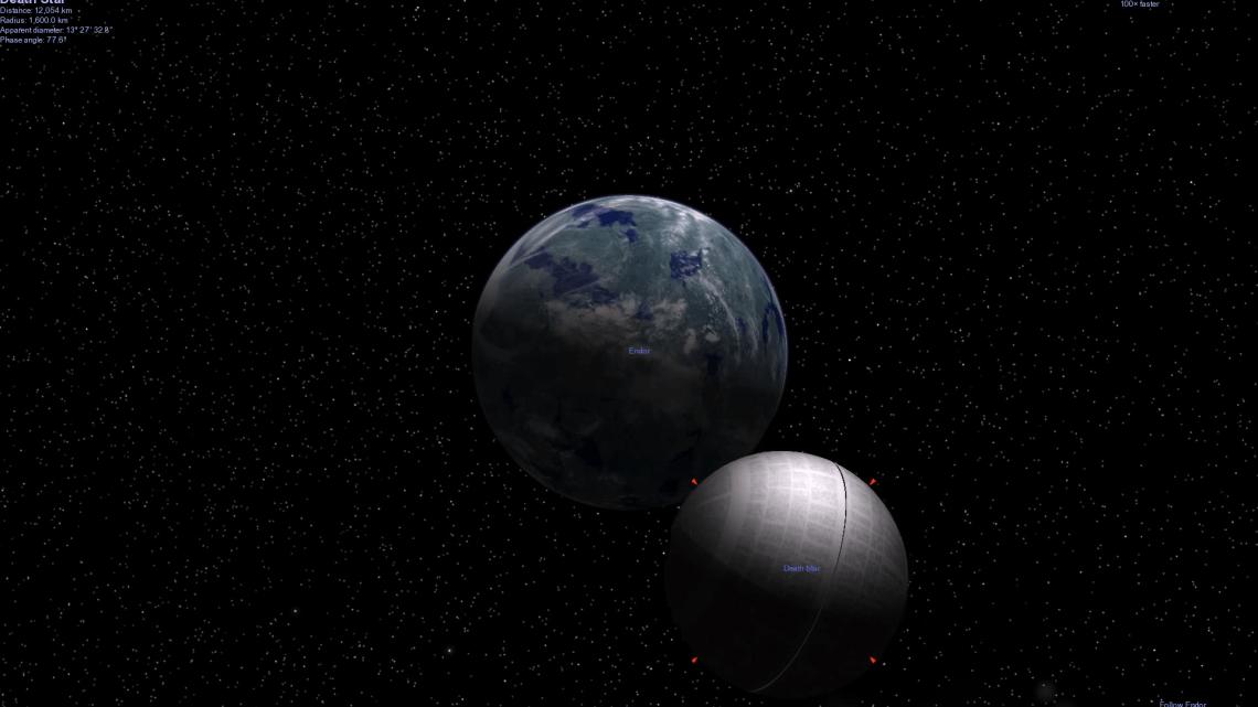 Death Star in Celestia