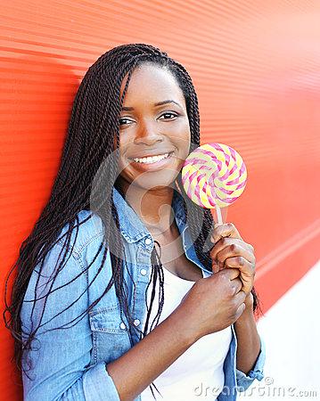 Girl Holding Lollipop