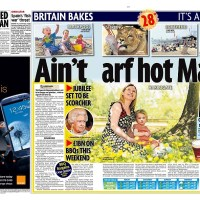 Mum Rowan Rooke and daughter Annalise picnicking in Valley Gardens, Harrogate - Daily Mirror - May 2012