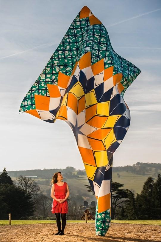 Yorkshire Sculpture Park - A sculpture by British-Nigerian artist Yinka Shonibare for the exhibition, FABRIC-ATION.