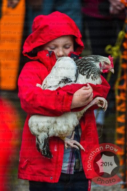 Little Jack Alsop-Smith (6) giving last year's winner Plucked It a cuddle