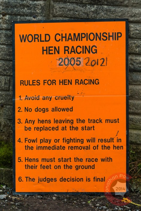 Rules include no 'fowl play'!