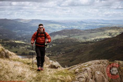 Commercial Photography Sports - A model walking in the Lake District