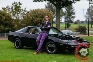 Kitt Knightrider car recreated by fan Scott Bainbridge - Picture date Sunday 28 September, 2014 (Murton, Tyne and Wear) Photo credit should read: Jonathan Pow/jp@jonathanpow.com REF : POW_140928_7620