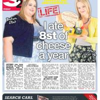 The Sun - Lady Eats 8st of Cheese a Year