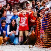 Weird and wonderful event photography - World Hen Racing Championship 2015