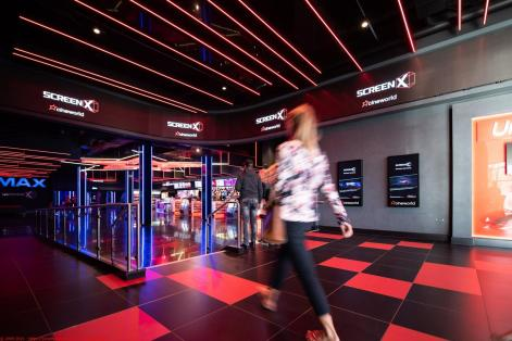 Visitors to Cineworld cinema Leeds