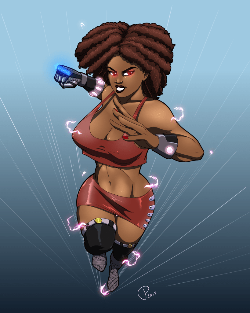 Curly Striker (totally not Misty Knight... but could have been)