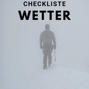 Checkliste Wetter - Checkliste-Wetter