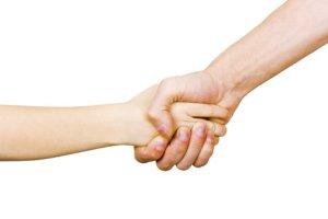 social media handshake making connection