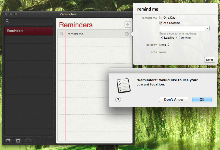 Read more about the article How to set location based reminders in osx