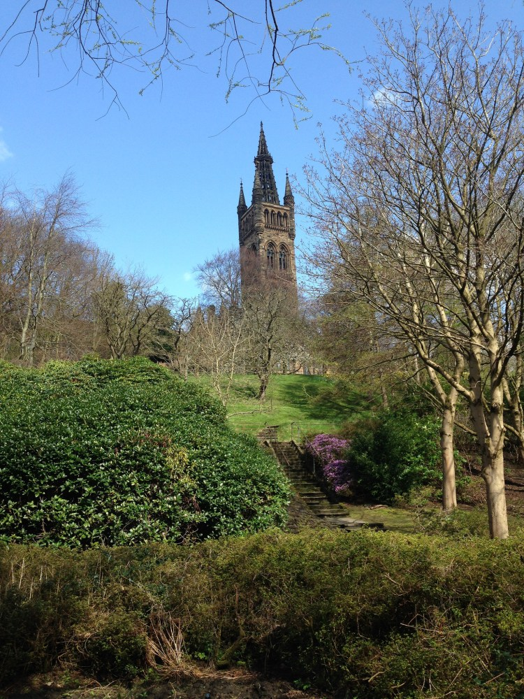 Glasgow University in the sun