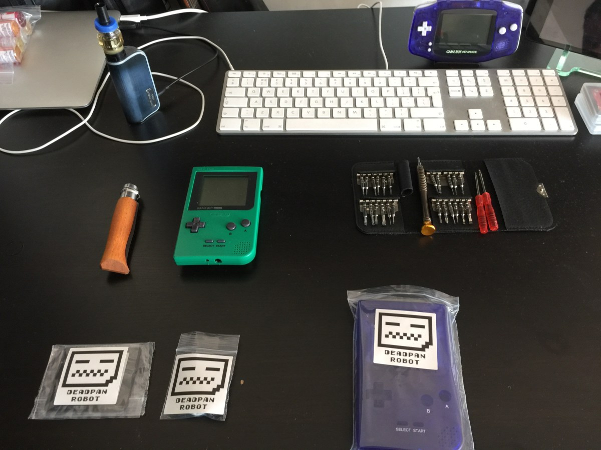 Gameboy Pocket case mod Parts ready to begin