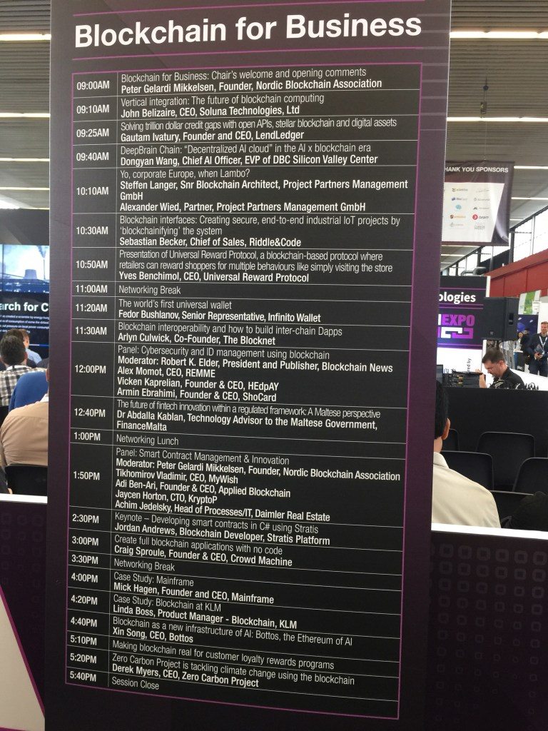 Read more about the article Blockchain expo