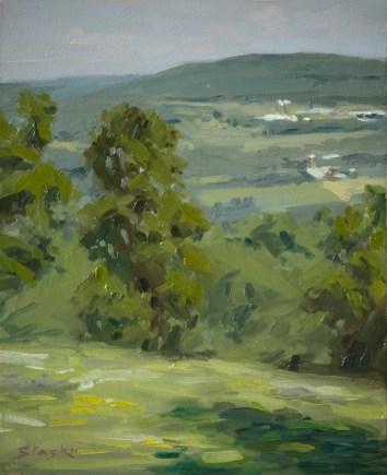 Oak Hill, oil on panel, 10x8, SOLD