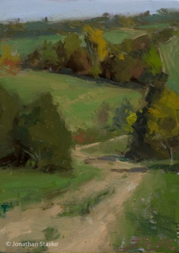 The Winding Trail, oil on panel, 7x5, SOLD