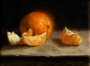 Orange, oil on linen, 5x7, SOLD