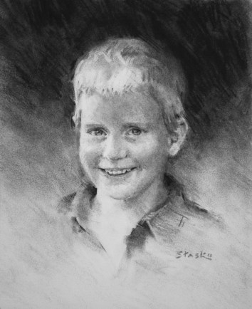 Derek, charcoal on paper, 10x8