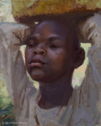 Water Girl, oil on panel, 10x8, Available