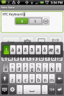 HTC Sense keyboard