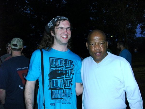 me with John Lewis