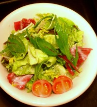 A plastic display-salad in Tokyo. It's the nearest thing to a snack I had in my photo album.