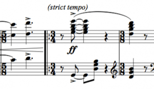 Click on this to download the score. The bar shown is my attempt to recreate a pianist trying to 'follow', catastrophically.